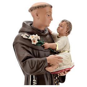 Statue St Anthony of Padua, 50 cm hand painted plaster Barsanti s2