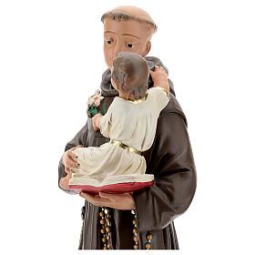 Statue St Anthony of Padua, 50 cm hand painted plaster Barsanti s4
