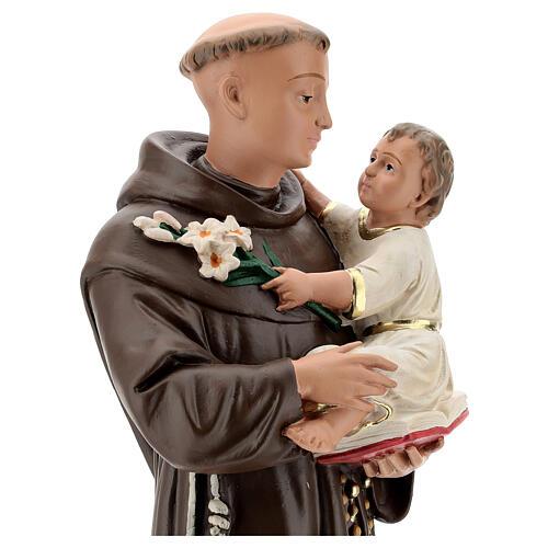 Statue St Anthony of Padua, 50 cm hand painted plaster Barsanti 2