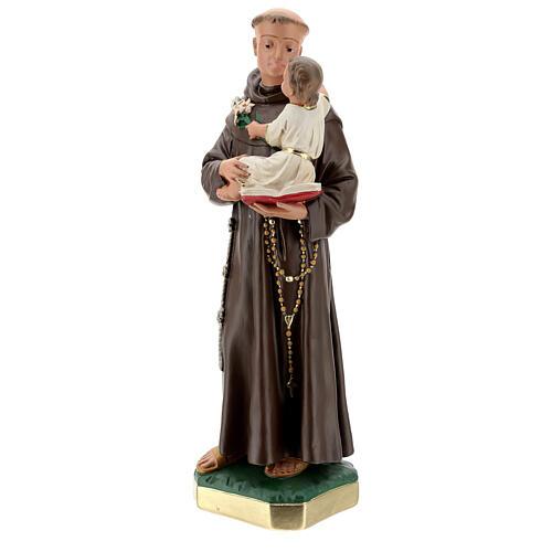 Statue St Anthony of Padua, 50 cm hand painted plaster Barsanti 3