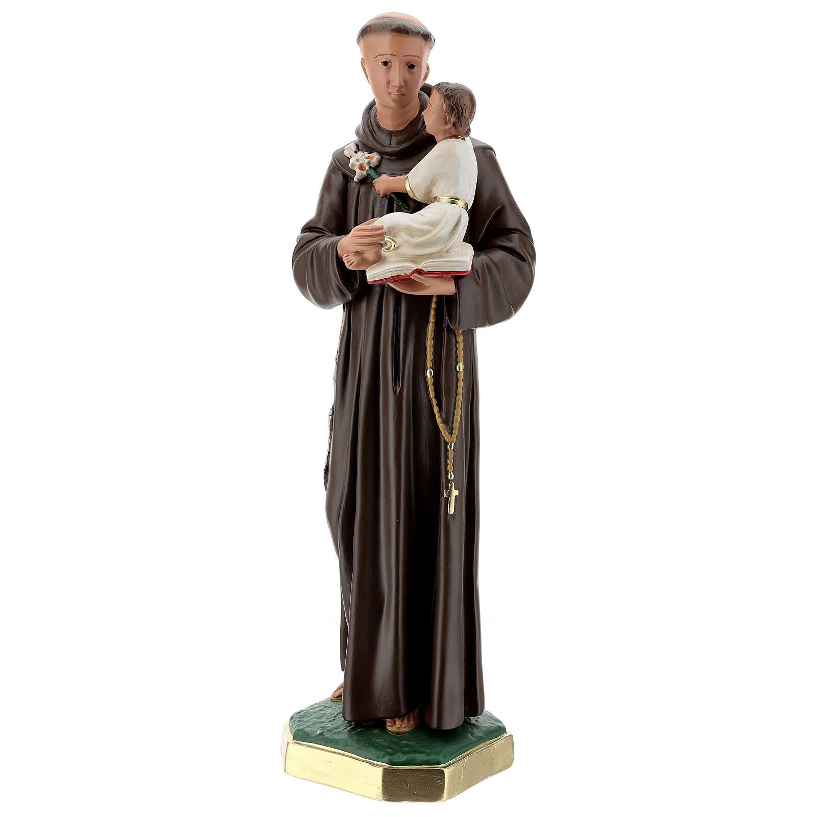 San Antonio de Padua estatua yeso 60 cm pintada a mano Barsanti 4