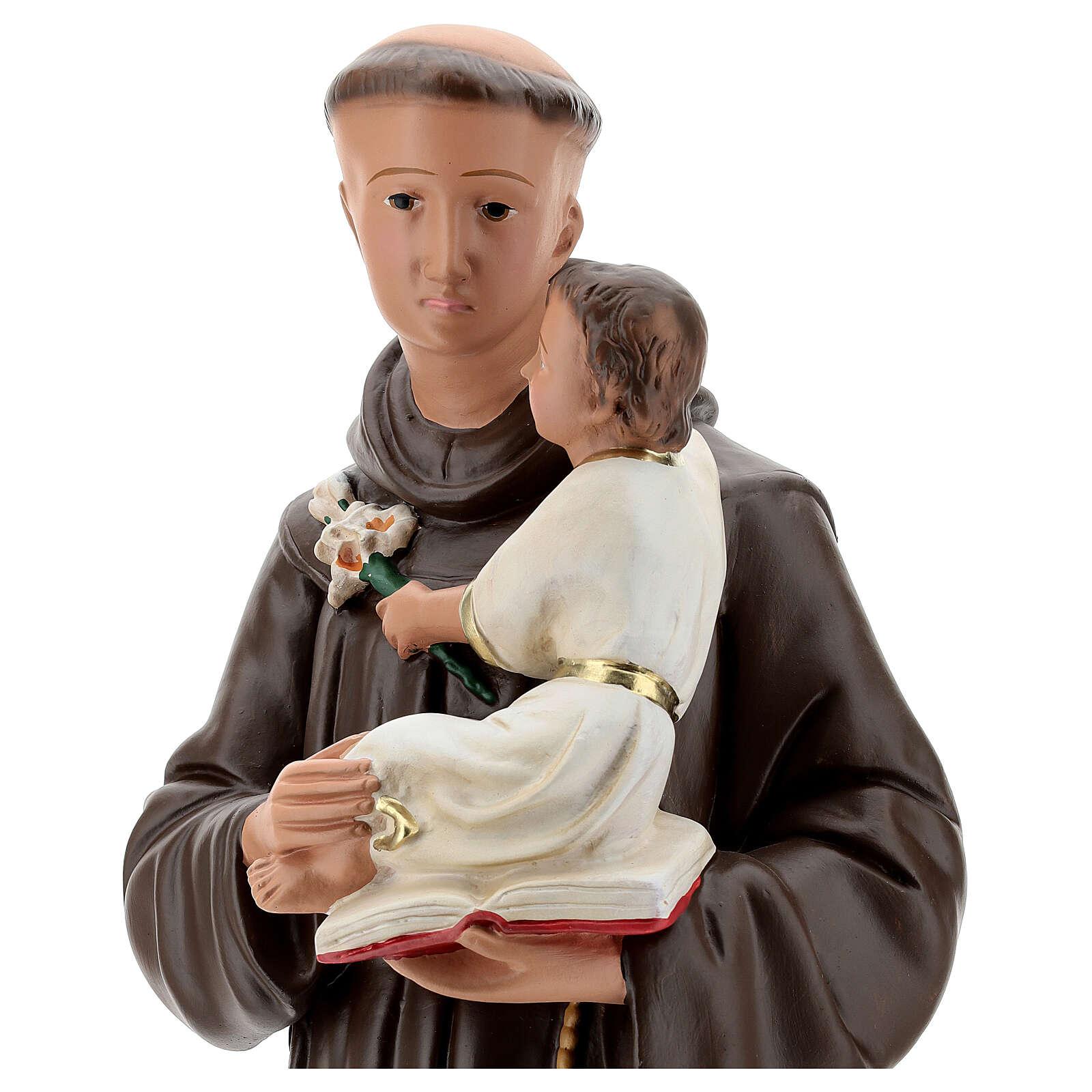 Saint Antoine de Padoue statue plâtre 60 cm peint main Barsanti 4