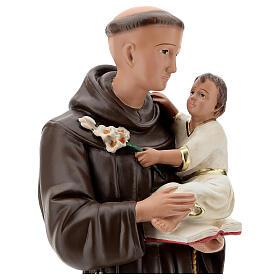 Saint Antoine de Padoue statue plâtre 60 cm peint main Barsanti s2