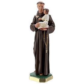 Saint Antoine de Padoue statue plâtre 60 cm peint main Barsanti s3