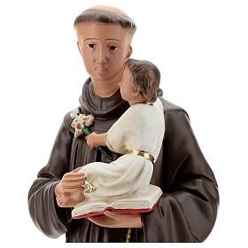 Saint Antoine de Padoue statue plâtre 60 cm peint main Barsanti s4