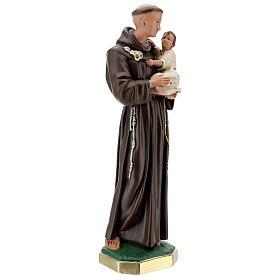 Saint Antoine de Padoue statue plâtre 60 cm peint main Barsanti s5