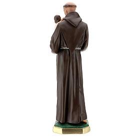 Saint Antoine de Padoue statue plâtre 60 cm peint main Barsanti s6
