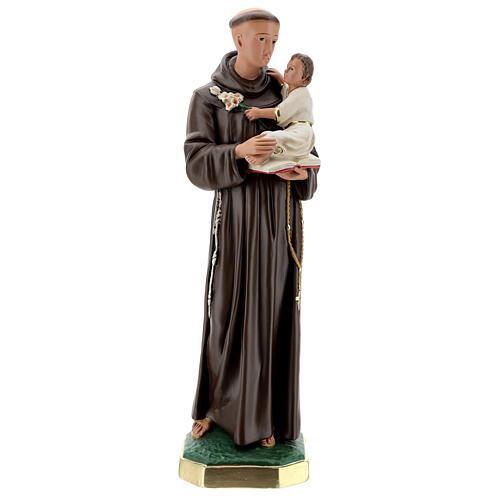 Saint Antoine de Padoue statue plâtre 60 cm peint main Barsanti 1
