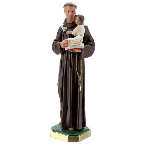 Saint Antoine de Padoue statue plâtre 60 cm peint main Barsanti 3