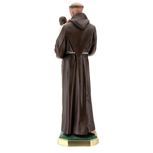 Saint Antoine de Padoue statue plâtre 60 cm peint main Barsanti 6