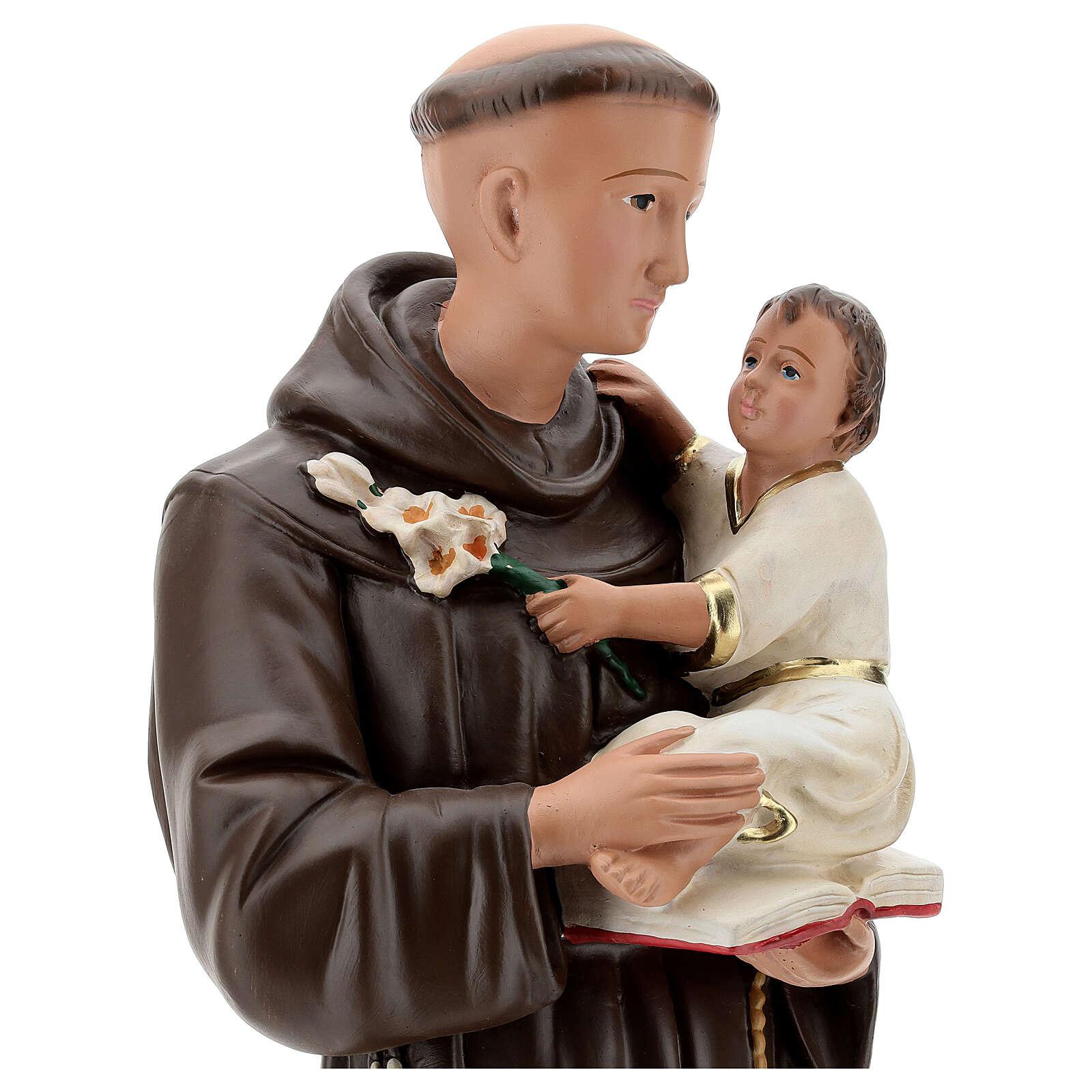 Sant'Antonio da Padova statua gesso 60 cm dipinta a mano Barsanti 4
