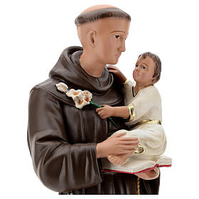 St Anthony of Padua statue, 60 cm in plaster hand painted Barsanti s2