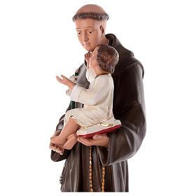 Saint Antoine de Padoue statue plâtre 80 cm peinte à la main Barsanti s4