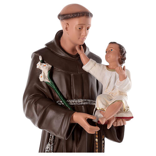 Saint Antoine de Padoue statue plâtre 80 cm peinte à la main Barsanti 2