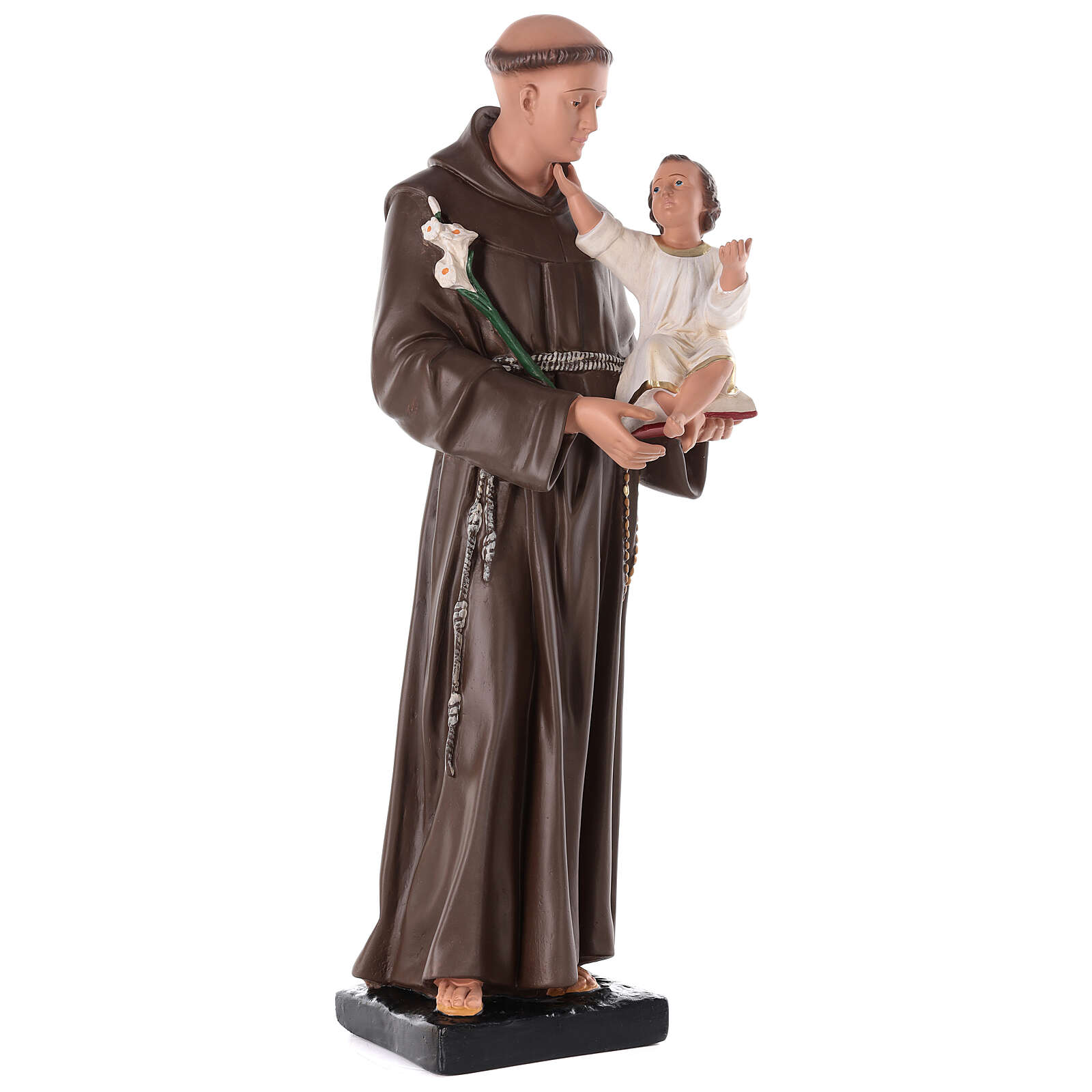 St Anthony of Padua statue, 80 cm hand painted plaster Barsanti 4