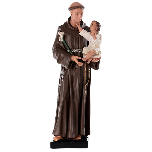 St Anthony of Padua statue, 80 cm hand painted plaster Barsanti 1