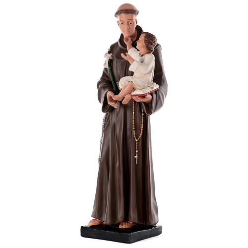 St Anthony of Padua statue, 80 cm hand painted plaster Barsanti 3