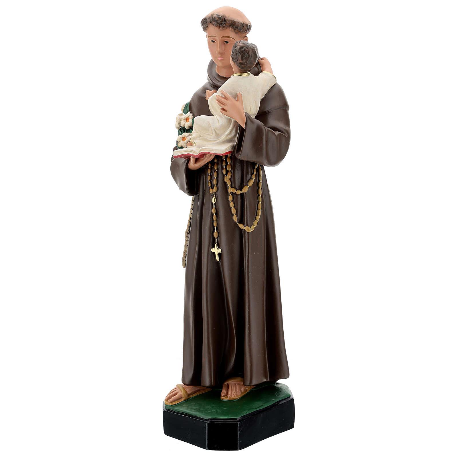 St Anthony statue, 65 cm painted resin Arte Barsanti 4