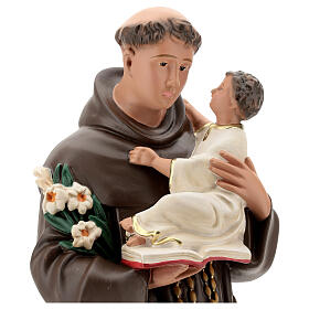 St Anthony statue, 65 cm painted resin Arte Barsanti s2