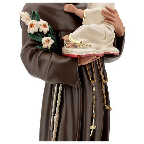 St Anthony statue, 65 cm painted resin Arte Barsanti 6