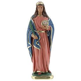 Statuette of St. Lucia plaster 30 cm hand painted Arte Barsanti s1