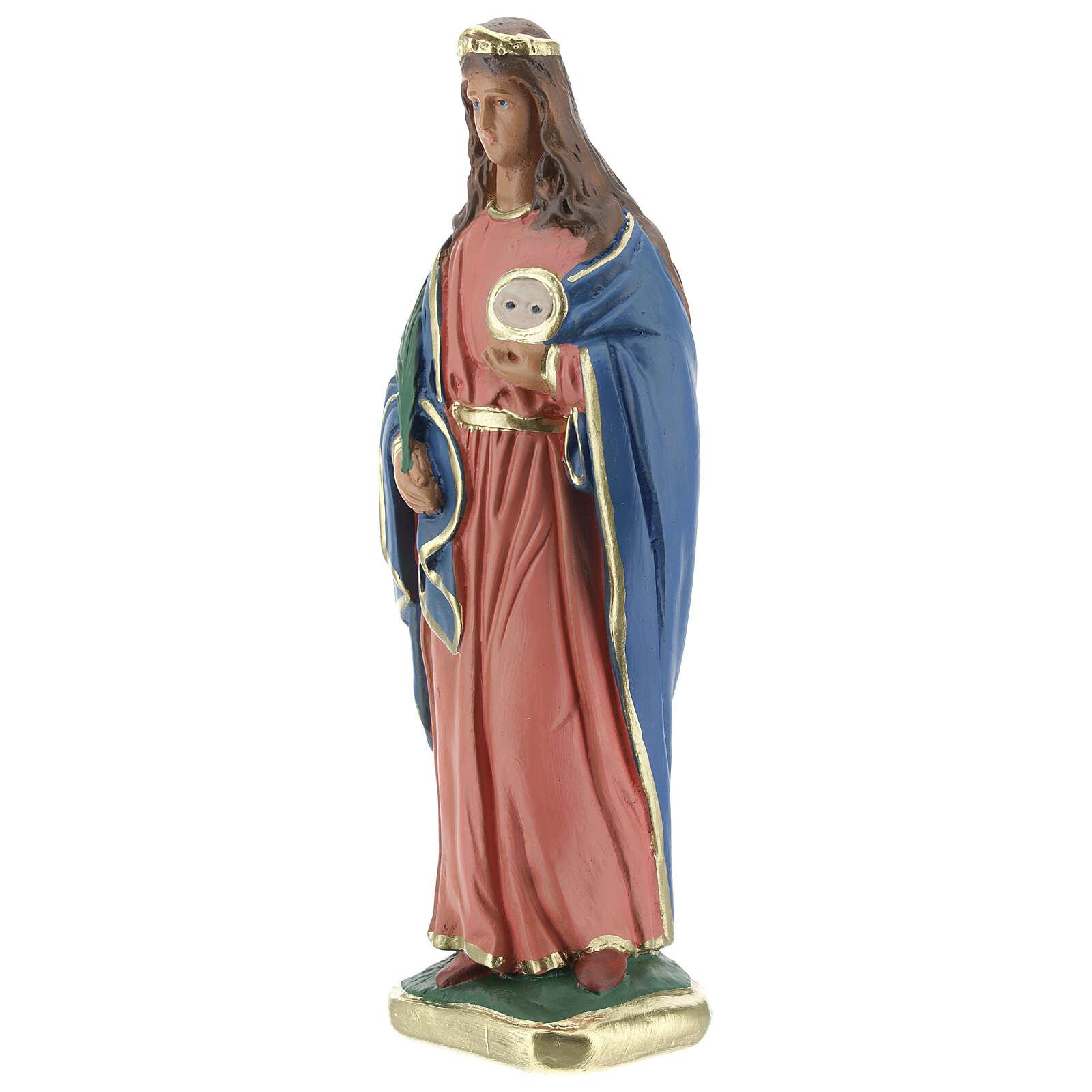 Santa Lucía estatua yeso 20 cm Arte Barsanti 4