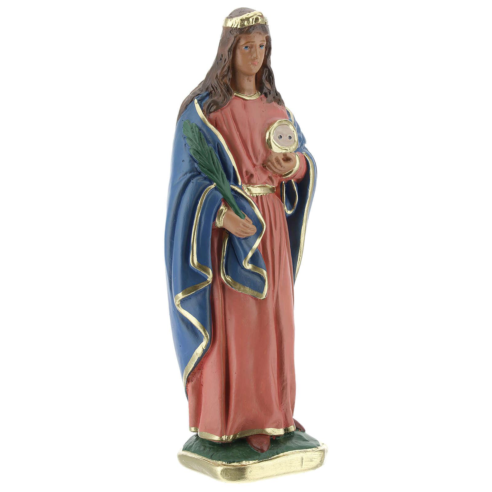 Sainte Lucie statue plâtre 20 cm Arte Barsanti 4