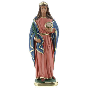 Sainte Lucie statue plâtre 20 cm Arte Barsanti s1