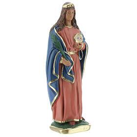 Sainte Lucie statue plâtre 20 cm Arte Barsanti s3