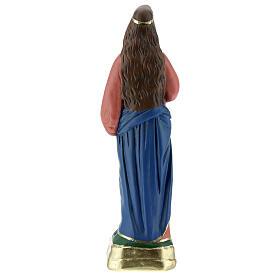 Estatua Santa Lucía yeso 30 cm pintada a mano Arte Barsanti s5
