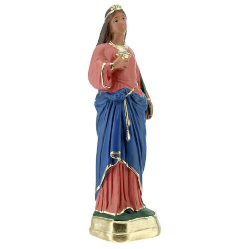 Statuetta Santa Lucia gesso 30 cm dipinta a mano Arte Barsanti 4