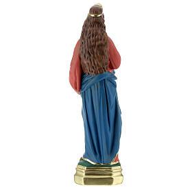 Santa Lucía estatua 40 cm yeso pintada a mano Arte Barsanti s6