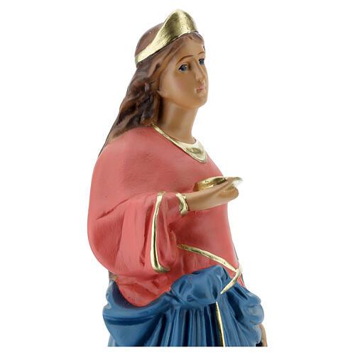 Santa Lucía estatua 40 cm yeso pintada a mano Arte Barsanti 4