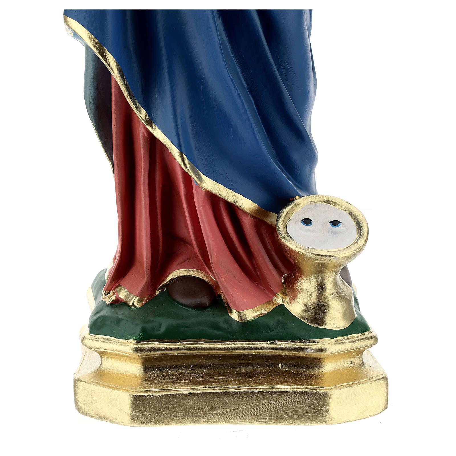 Estatua Santa Lucía 60 cm yeso pintado a mano Arte Barsanti 4