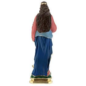 Estatua Santa Lucía 60 cm yeso pintado a mano Arte Barsanti s6