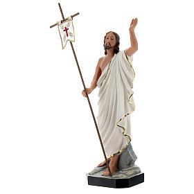 Statua Gesù Risorto croce bandiera 40 cm resina dipinta Arte Barsanti s3