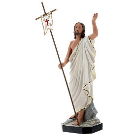 Jesus Resurrection statue with cross flag, 40 cm painted resin Arte Barsanti s3