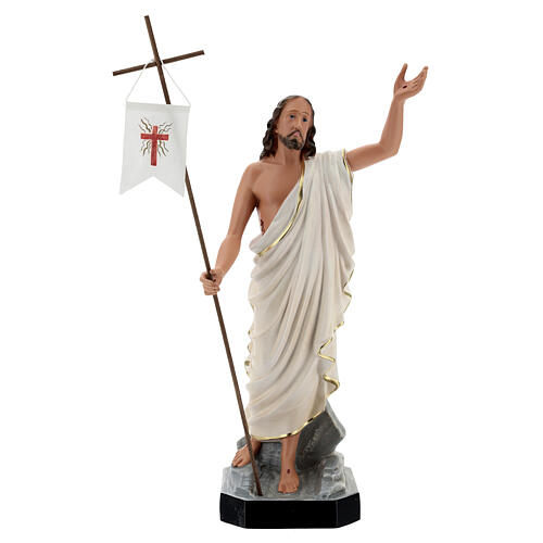Gesù Risorto statua resina 50 cm dipinta a mano Arte Barsanti 1