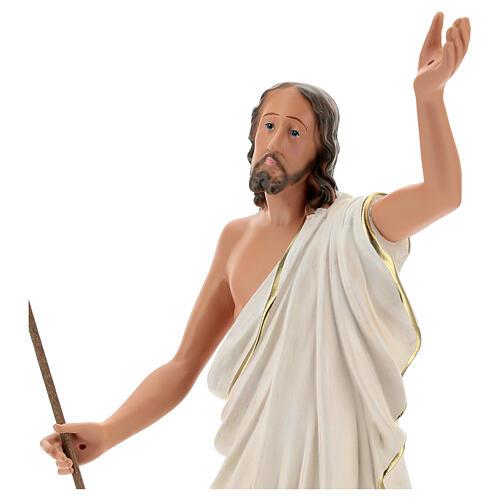Gesù Risorto statua resina 50 cm dipinta a mano Arte Barsanti 2