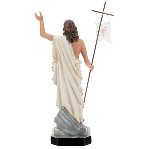 Jesus Cristo Ressuscitado com cruz e estandarte imagem resina pintada Arte Barsanti 50 cm 5