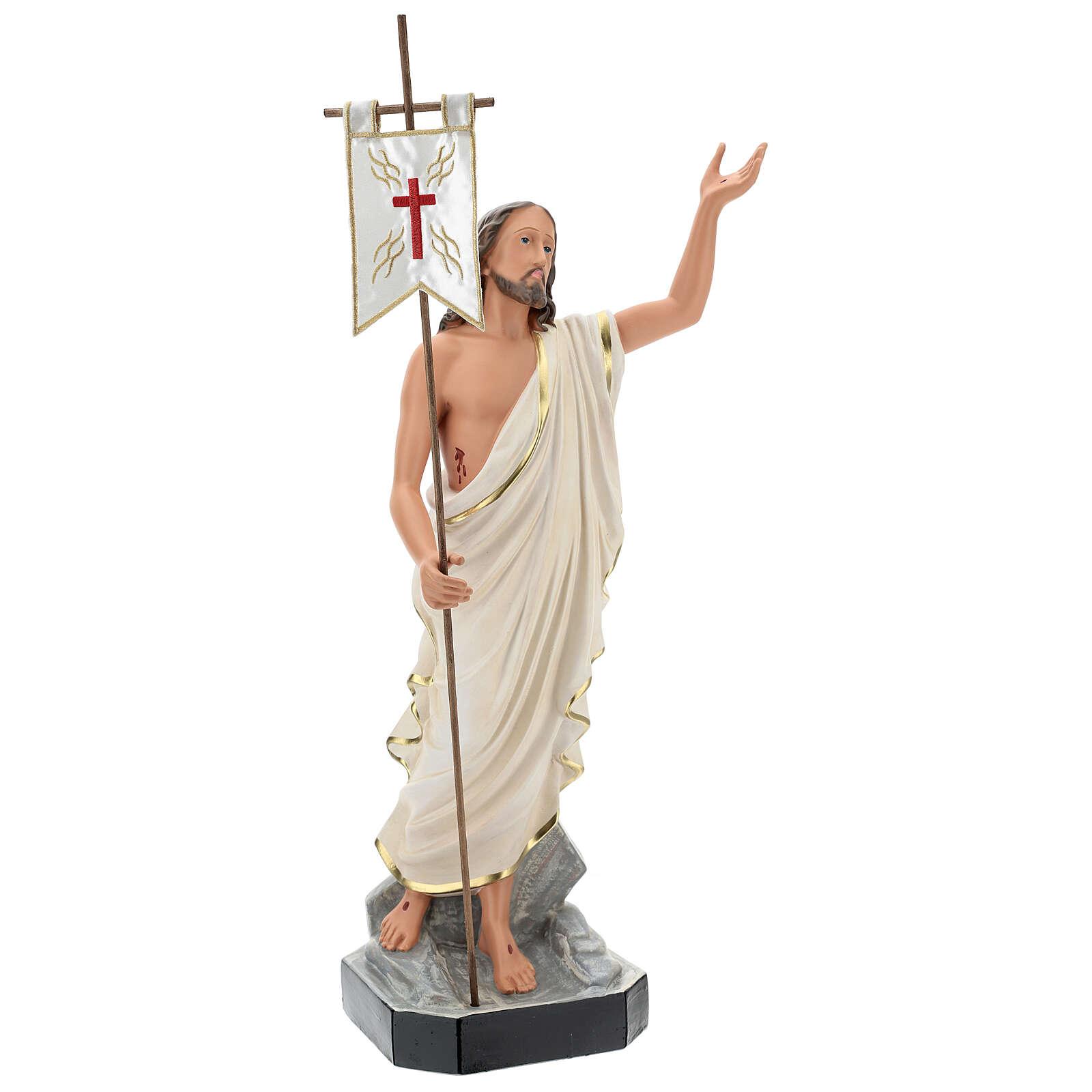 Statue Résine Christ Ressuscité 65 cm peinte main Arte Barsanti 4