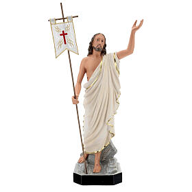 Statue Résine Christ Ressuscité 65 cm peinte main Arte Barsanti s1