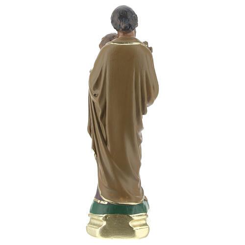 St Joseph with Child Jesus statue, 15 cm hand painted plaster Arte Barsanti 4