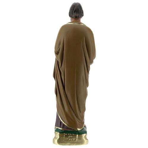 Saint Joseph 20 cm statue plâtre peinte main Arte Barsanti 4