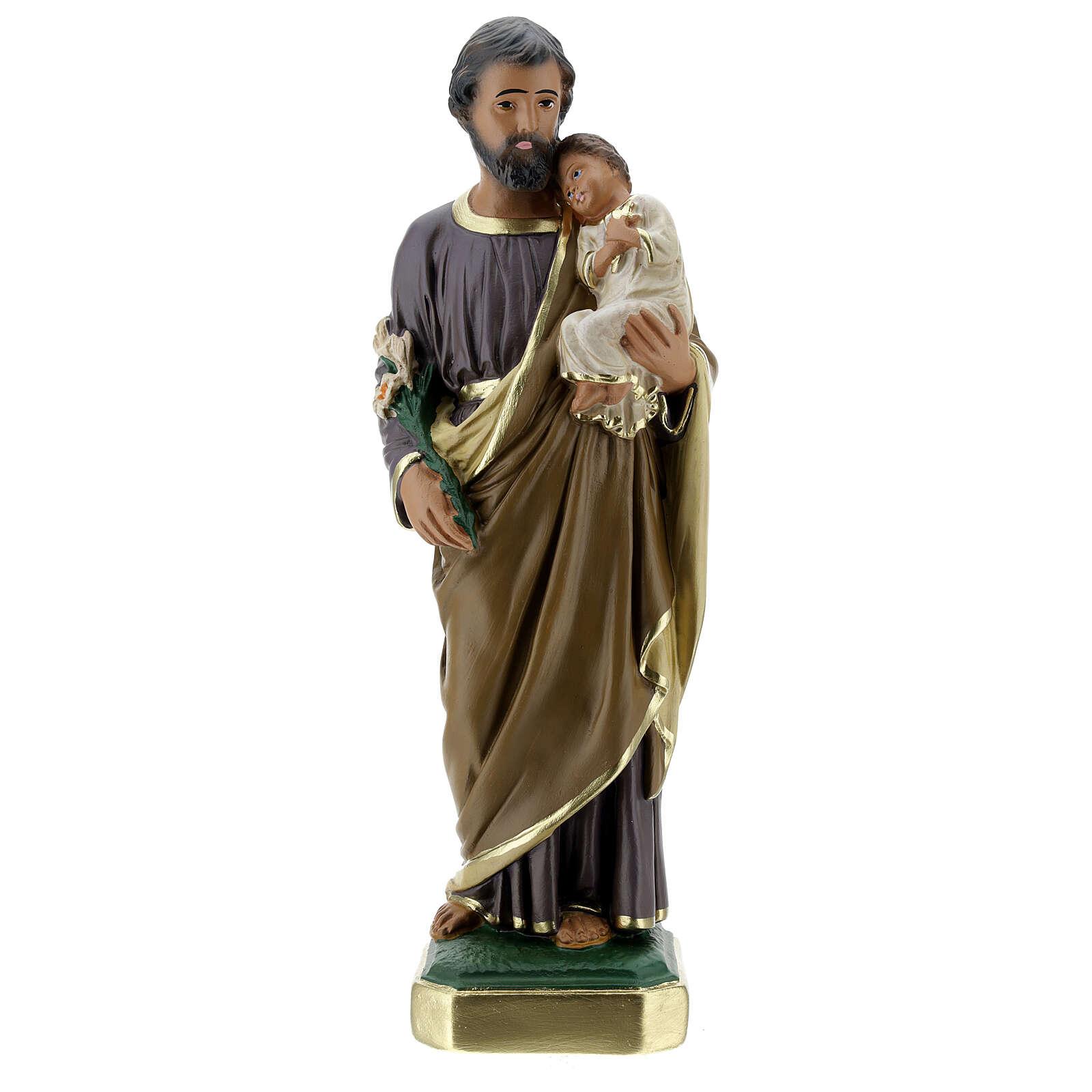 Statua San Giuseppe 30 cm gesso dipinto a mano Arte Barsanti 4