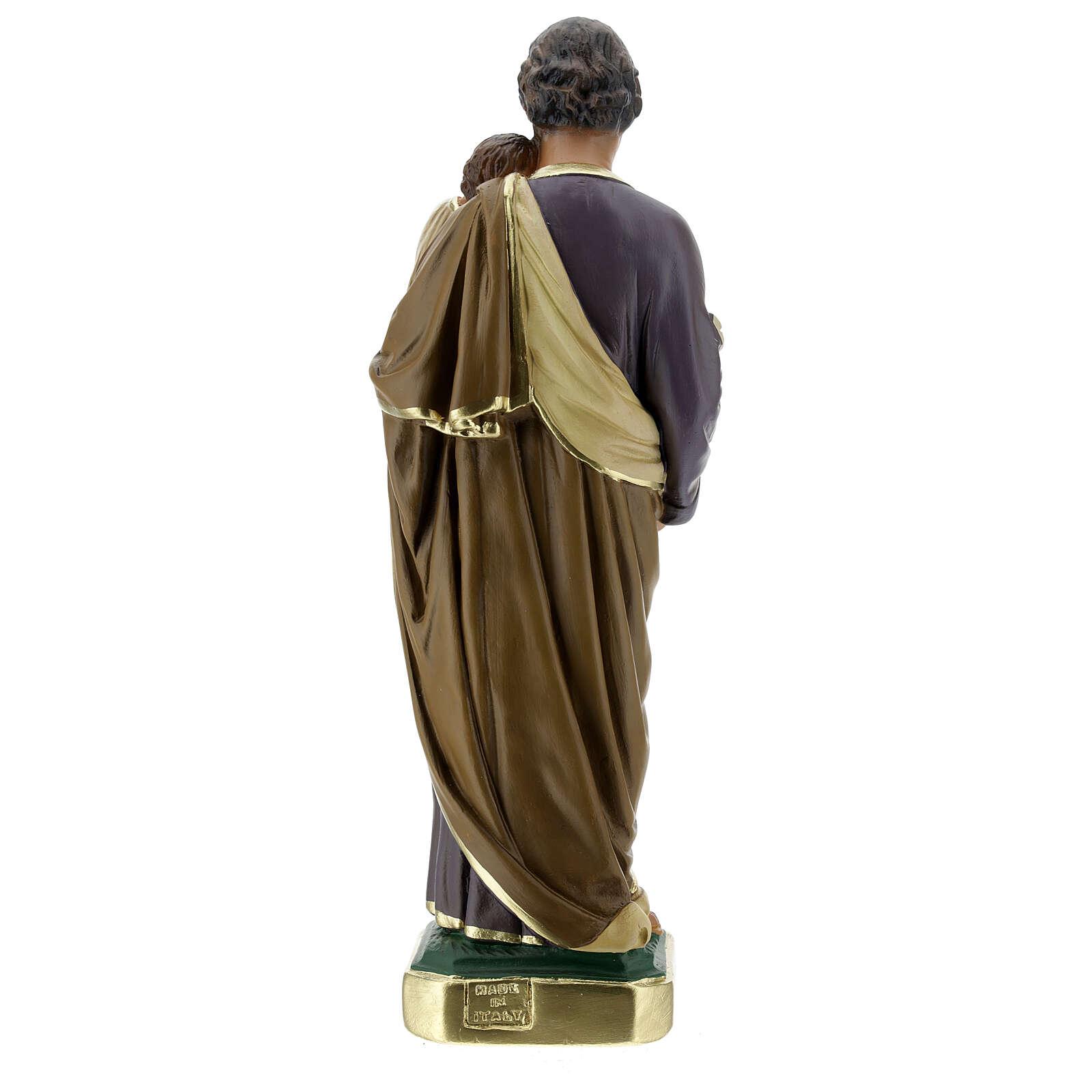 Saint Joseph statue, 30 cm hand painted plaster Arte Barsanti 4