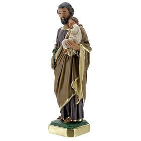 Saint Joseph statue, 30 cm hand painted plaster Arte Barsanti s3