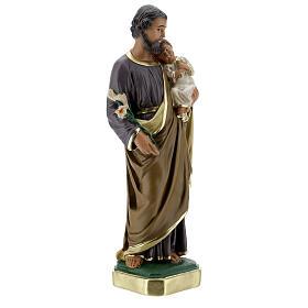 Saint Joseph statue, 30 cm hand painted plaster Arte Barsanti s4
