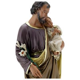 Saint Joseph 40 cm statue plâtre peint main Arte Barsanti s4