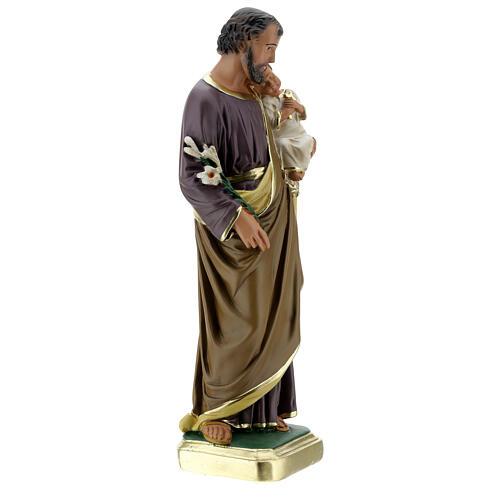 Saint Joseph 40 cm statue plâtre peint main Arte Barsanti 5